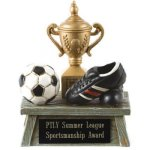 Vintage Trophy Award Soccer 3D Resin Trophy Awards
