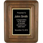 Floating Solid Walnut Plaque Achievement Awards