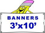 h 3x10 Banner Banners