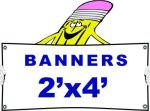 a 2x4 Banner Banners