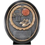 Basketball Resin Oval Basketball Trophy Awards