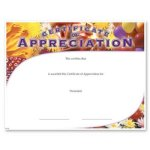 Appreciation Fill in the Blank Certificates