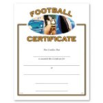 Football Fill in the Blank Certificates