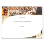 Student Of The Month Fill in the Blank Certificates