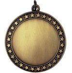 Blank Star Gold Insert Medallion Awards