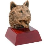 Wolf Resin Mini-Series Resin Trophy Awards