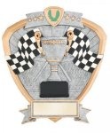 Signature Series Racing Flags Shield Award Moto-Cross Trophy Awards