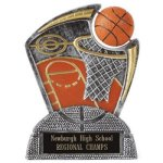 Large Spin Award Basketball Spin Resin Trophy Awards