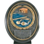 Swimming Resin Oval Swimming Trophy Awards